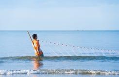 Vietnamese fisherman Stock Photos