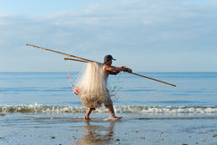 Vietnamese fisherman Royalty Free Stock Image