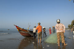 Mui Ne Vietnam Fisherman Royalty Free Stock Photography