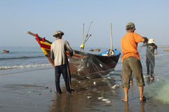 Mui Ne Vietnam Fisherman at the beach Stock Photos