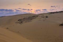Mui Ne Vietnam. Sand dunes at Mũi Né at sunset, Phan Thiết, Bình Thuận Province, Vietnam Stock Images
