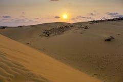 Mui Ne Vietnam. Sand dunes at Mũi Né at sunset, Phan Thiết, Bình Thuận Province, Vietnam Royalty Free Stock Photos