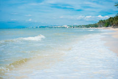 Mui Ne White Sandy Beach Royalty Free Stock Photos
