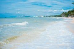 Mui Ne White Sandy Beach. Vietnam, Southeast Asia Royalty Free Stock Photos