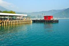 Mui Wo Ferry-Pier Lizenzfreie Stockfotos