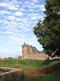 Muider Slot Castle. The city of Muiden, Holland. The Muiderslot Castle in the distance Royalty Free Stock Photos