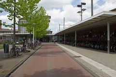 Muiderpoortstation in Amsterdam royalty free stock image