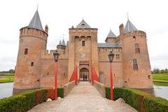 Muiderslot (castelo holandês famoso) imagens de stock