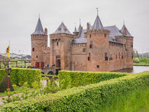 Muiderslot Castle in the Netherlands on National Castle Day Stock Photo