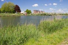Muiderslot está ainda no castelo medieval das boas condições na Holanda norte Foto de Stock