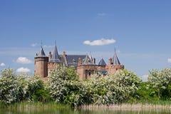 Muiderslot jest wciąż w dobrym stanie średniowiecznym kasztelem w Północnym Holandia Obrazy Royalty Free