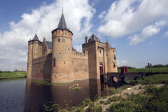 Muiderslot in moat Royalty Free Stock Image