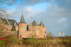 The Muiderslot with moat, a well-preserved medieval castle Royalty Free Stock Photo