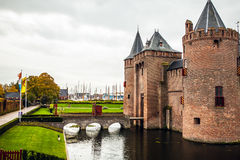 Muiderslot Muiden castle in Muiden, Noord-Holland, The Netherlands.  Royalty Free Stock Images
