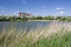 Muiderslot is still in good condition medieval castle in the North Holland Stock Photos