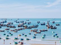 Muine Harbor. Most beautiful harbor I& x27;ve seen in the Muine fishing village. Winter in Vietnam. Sea,Ocean,Boats,landscape,blank royalty free stock images