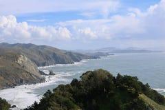 Muir Beach Overlook royaltyfri fotografi