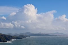 Muir plaża Przegapia Zdjęcie Stock
