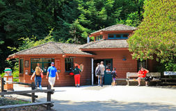 Muir Woods National Monument Visitors Center. The Visitors Center near the park trail entrance of Muir Woods National Monument. These Giant Coastal Redwood trees Royalty Free Stock Photo