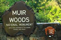 Muir Woods National Park Service Sign stock image