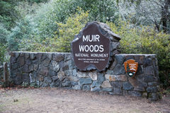 Muir Woods National Park Service Sign Stock Photography