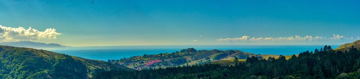 Muir Woods National Park view of the ocean and hillside royalty free stock photos