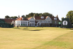 Muirfield Clubhouse and 18th Green Stock Images