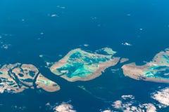 Muirhead礁石鸟瞰图  障碍极大的礁石 澳洲 免版税图库摄影
