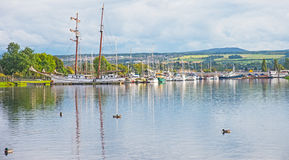 Muirtown的小游艇船坞 图库摄影