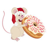 Muis en donuts Royalty-vrije Stock Foto