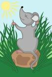 Muis in het gras Royalty-vrije Stock Afbeeldingen
