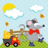 Muis met stuk speelgoed vector Royalty-vrije Stock Afbeeldingen
