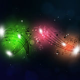 Muisc Notes colorful Background Stock Image
