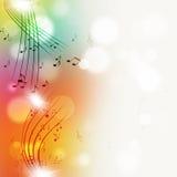Muisc Zauważa Multicolor Jaskrawego tło Fotografia Royalty Free