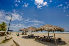 Muisne,厄瓜多尔- 2016年3月16日:Esmeraldas省的西南的一个沿海城市在西北厄瓜多尔 免版税库存图片