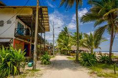 Muisne,厄瓜多尔- 2016年3月16日:Esmeraldas省的西南的一个沿海城市在西北厄瓜多尔 库存图片