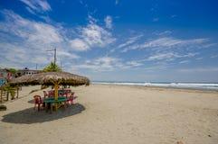 Muisne, Ισημερινός - 16 Μαρτίου 2016: Μια παραλιακή πόλη στο νοτιοδυτικό σημείο της επαρχίας Esmeraldas στο βορειοδυτικό Ισημεριν Στοκ φωτογραφίες με δικαίωμα ελεύθερης χρήσης