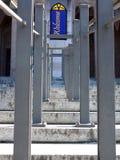 Muita simetria em uma escadaria Fotos de Stock