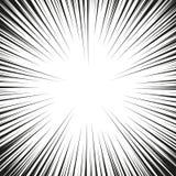 Muita velocidade radial cômica preta alinha na base branca Ilustração da explosão do poder do efeito Elemento do projeto da banda ilustração royalty free