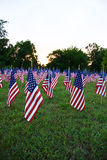 Muitas bandeiras americanas Foto de Stock Royalty Free