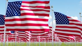 Muitas bandeiras americanas ilustração royalty free