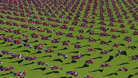 Muitas bandeiras nacionais do Reino Unido ilustração do vetor
