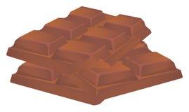 Muitas barras de chocolate ilustração stock