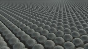 Muitas bolas de golfe est?o movendo-se infinitamente ilustração royalty free