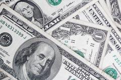 Muitas cédulas dos dólares Imagens de Stock