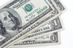 Muitas cédulas dos dólares Fotografia de Stock
