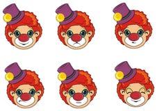 Muitas cabeças dos palhaços ilustração royalty free