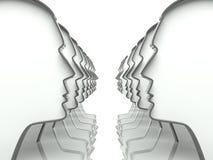 Muitas cabeças no fundo da perspectiva ilustração do vetor
