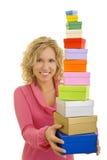 Muitas caixas coloridas Imagens de Stock