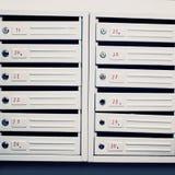Muitas caixas postais Foto de Stock